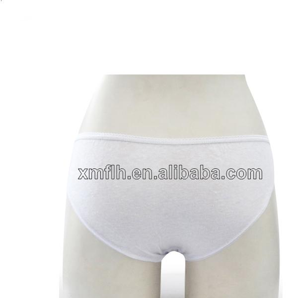 2014 New Style Disposable White Cotton Panties for Women