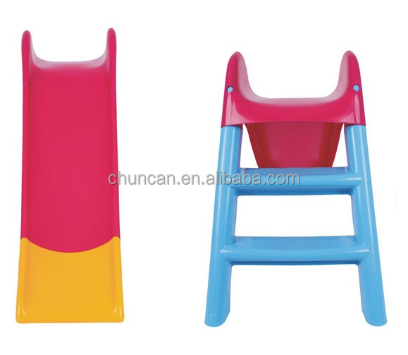 Kid's Cheap plastic folding slide indoor kids slide