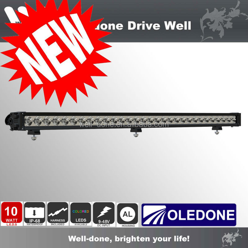300w driving light bar, IP68 50inch led Jeep bar light