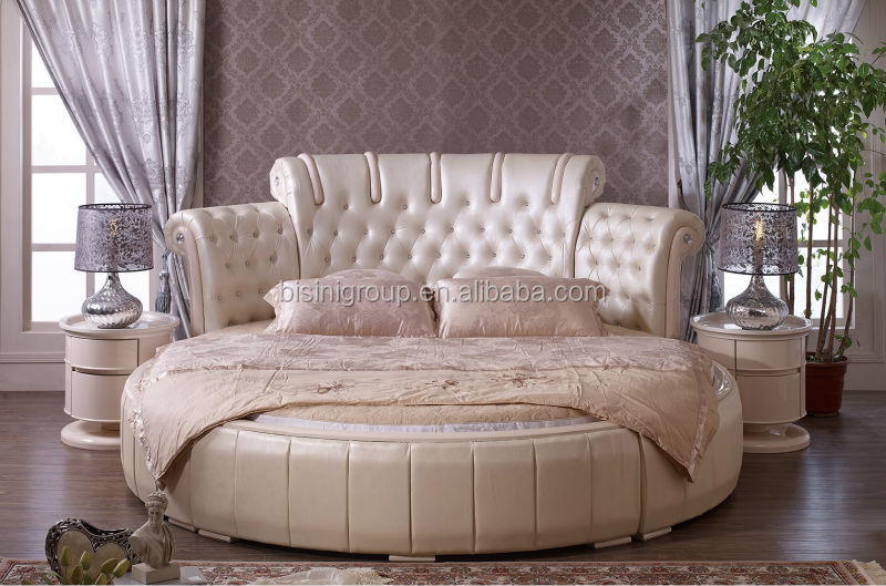 Bisini mordern style leather round bed soft bed(BF09-45027)