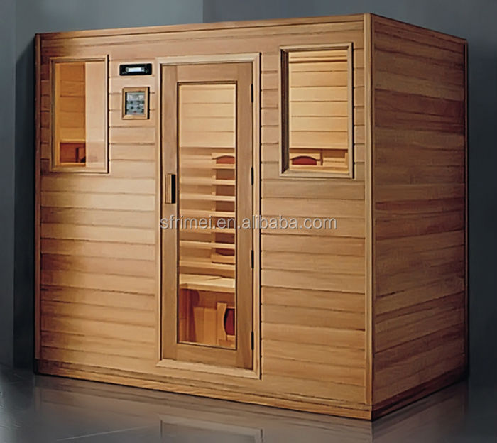 Cheapest Solid Wood Light Wave Room Far Infrared Sauna Room For 4 Person K-7119