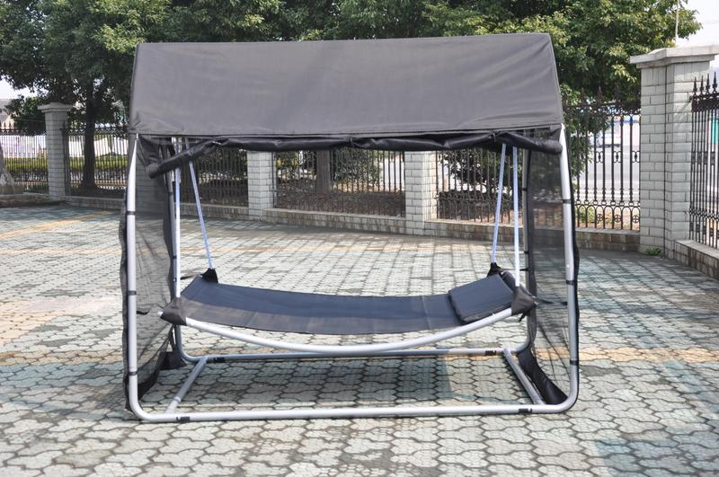 hammock swing bed with mosquito net sleeping free standing. Black Bedroom Furniture Sets. Home Design Ideas