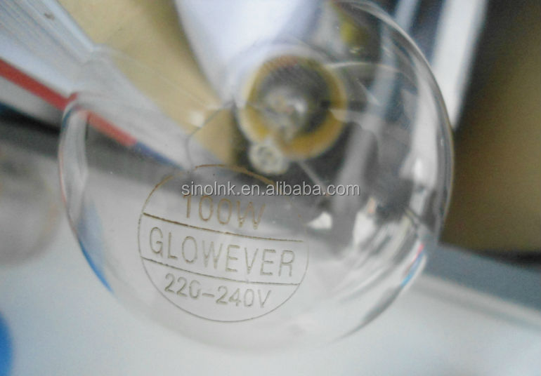 220V B22 E27 Clear light bulb 60-100 WATT (Glowever)