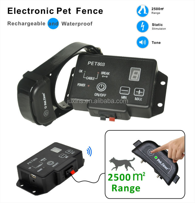 adjustable electric fence Waterproof outdoor In-Ground Electronic Wireless Pet Fence Containment System