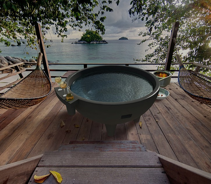 Garden Outdoor Round Spa Bathtub Dutch Hot Tub Outdoor