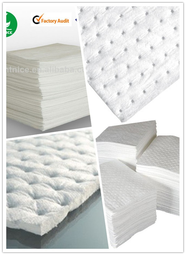 Super White Oil Absorbent Pads For Spill Emergency Control