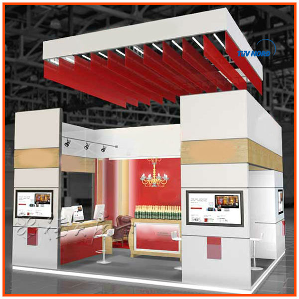 Exhibition Stall Price : International food exhibition fair show booth stand