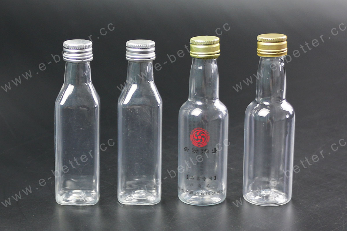50ml Small Round Plastic Wine Bottle In Clear Buy 50ml