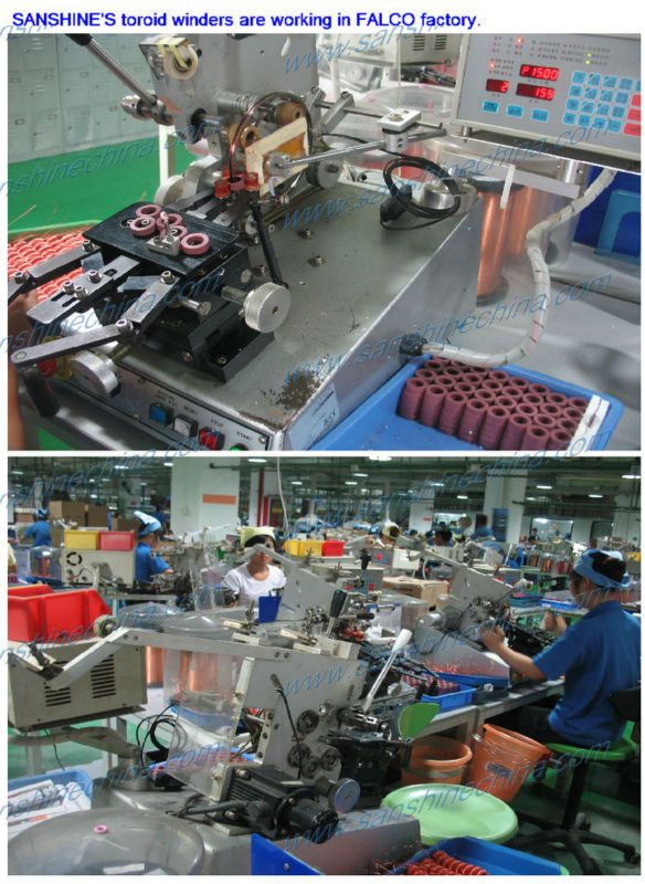 fine wire small toroid coil winding machine