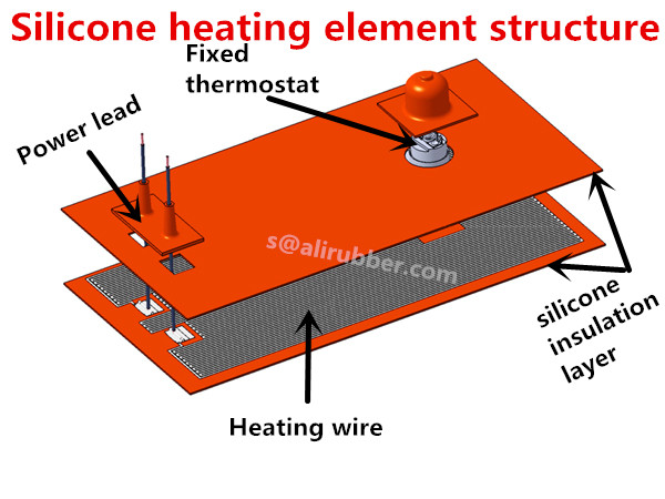 Custom Made 12V-380V Flexible Silicone Heater Provide More Than 5000 Designs