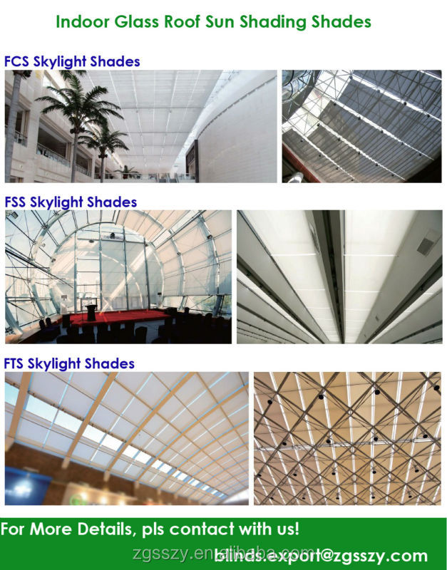 Indoor Skylight Sun Shades/ FCS Motorized Skylight Blinds/Canopy