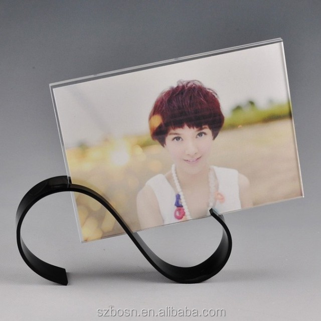 High Transparent Lucite Picture Frame with a creative Base