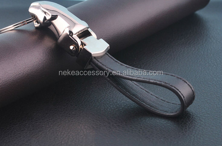 new arrival high quality jaguar car leopard key chain keychain key ring key fob