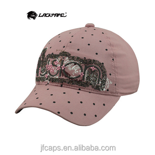 embroidery and printing of flowers lady new 2014 pink baseball and golf hats and caps