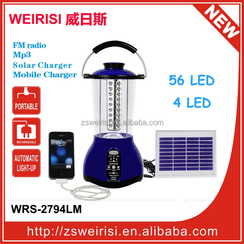 LED Rechargeable Solar Emergency Light (WRS-2794LM)