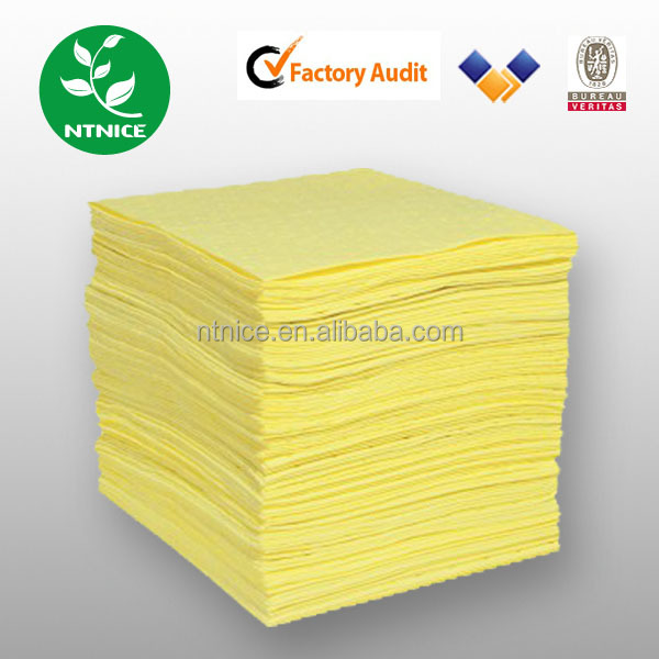 Industrial Acidic liquid leaking laboratory Hazchem Chemical Spill Absorbent Mat Pads Sheet