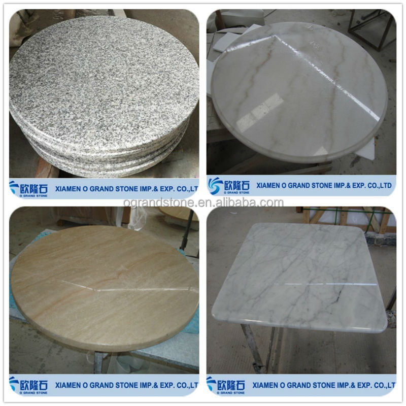 Round white marble top dining table custom cut marble for Custom made marble dining tables
