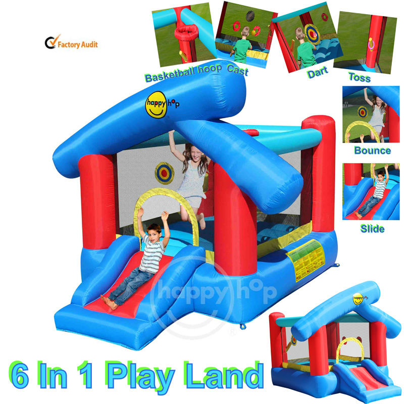 Happy Hop 9111--ultimate small combo inflatable bounce house