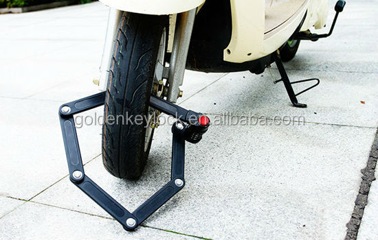 Foldind Bicycle Lock with combination foldable