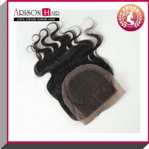 "Hot selling Remy Peruvian Virgin Hair Lace Front Closure With Baby Hair 4""x4"""