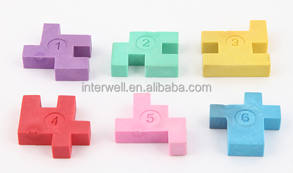 Interwell ec26 custom eraser square shape puzzle eraser for 16 door puzzle solution