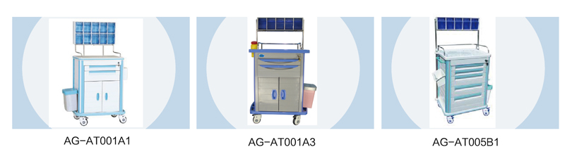hospital emergency crash trolley