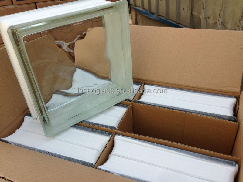 8 X8 X3 Hollow Glass Block In Foshan Guangdong Clear Glass