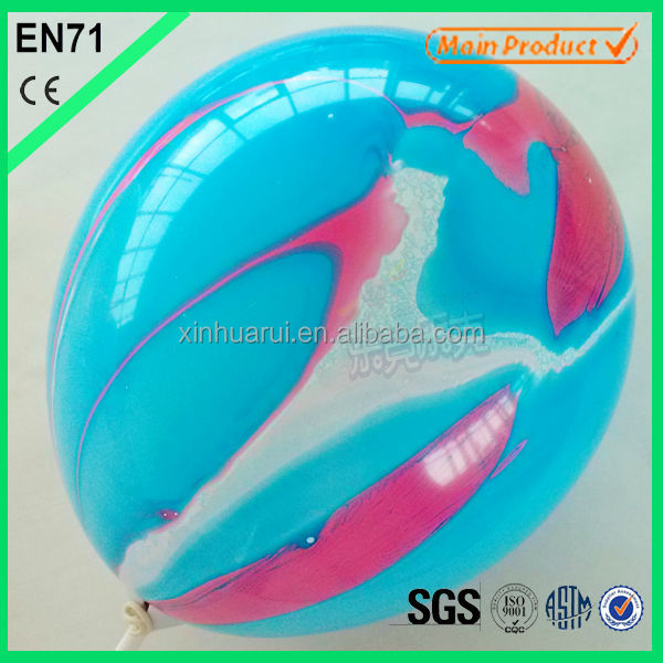 12 inch colorful marble balloons