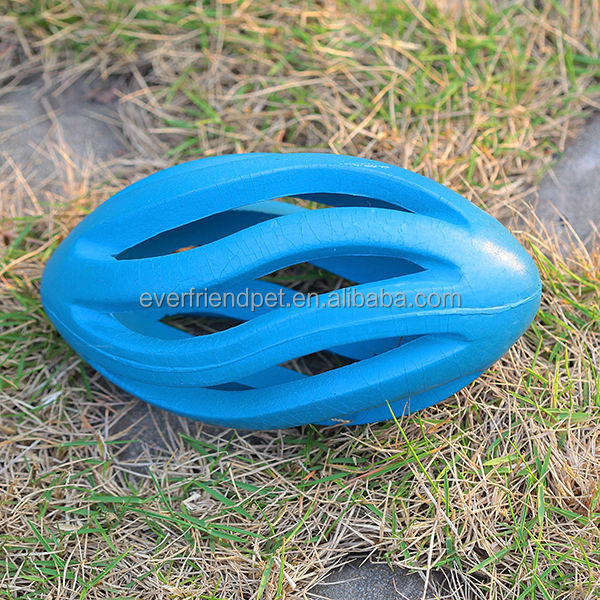 2015 New! 15CM soft Blue cheap hollow rugby rubber ball