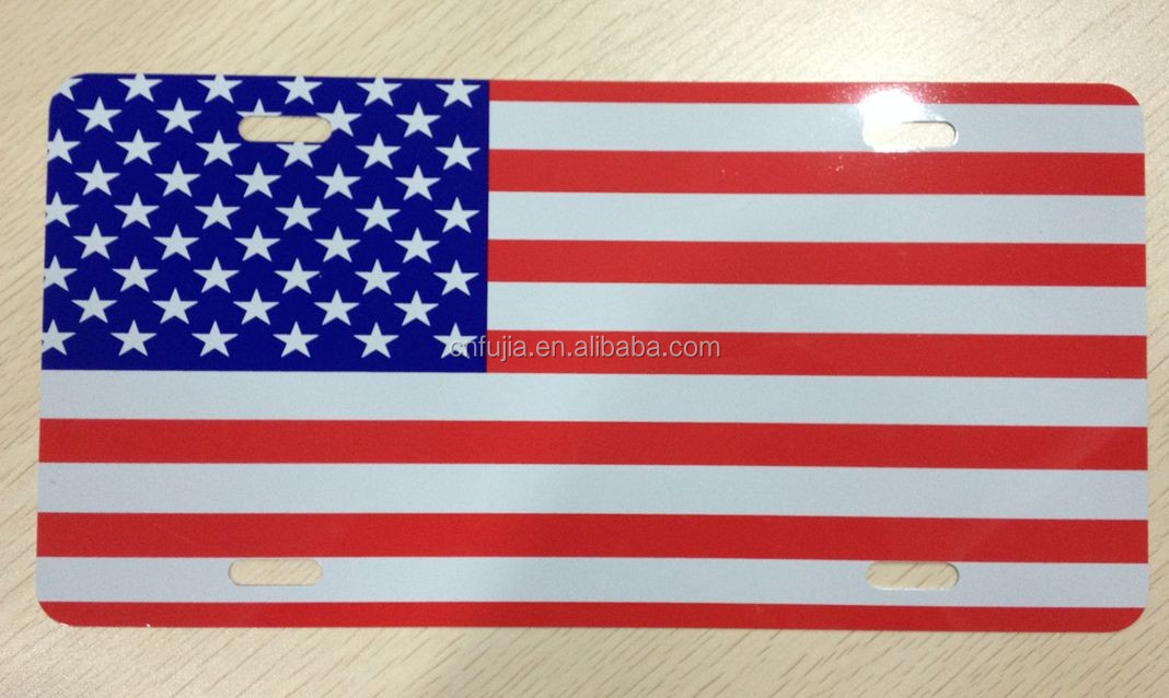 WAC, SGS Factory price Australia decorative embossed aluminum car license plate, metal plaque