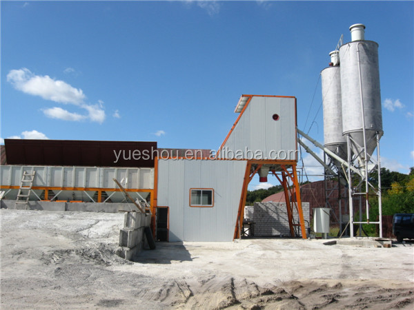 Concrete mixing Plant 35m3/h working in Russia