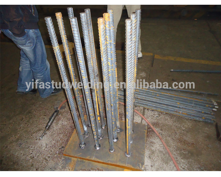 Prime Alloy Steel Rebar Anchor For Drawn Arc Stud Welding