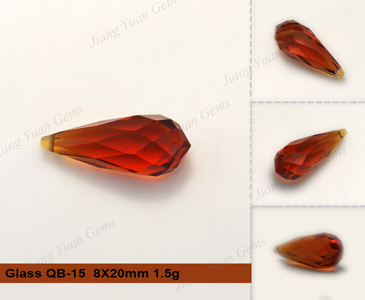 Wholesale Three-dimensional Waterdrop Glass Gemstones