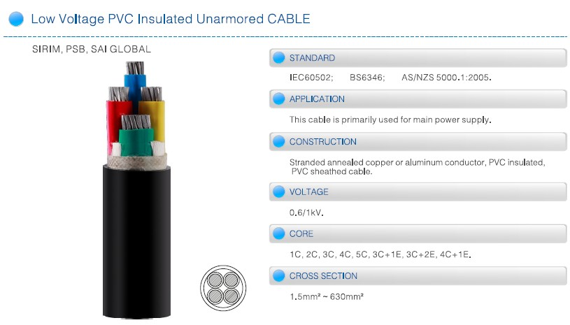 NAYY Aluminum Power Cable 0.6/1KV
