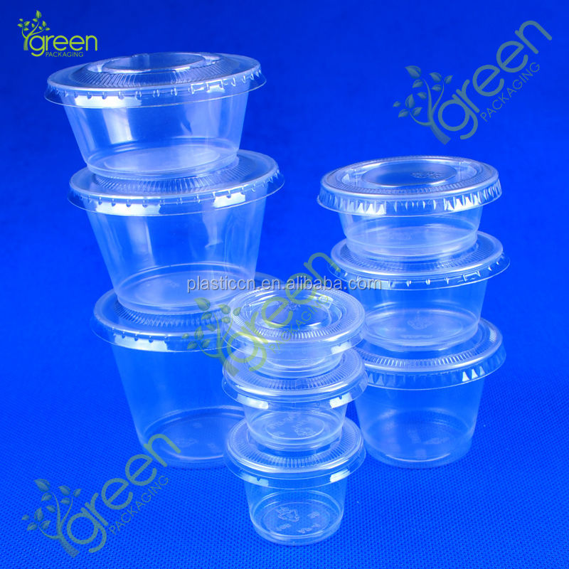 Hot sales clear disposable mini plastic dessert cups buy for Small plastic cups
