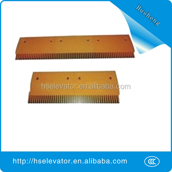 escalator comb floor plate, escalator yellow strip, escalator comb plate