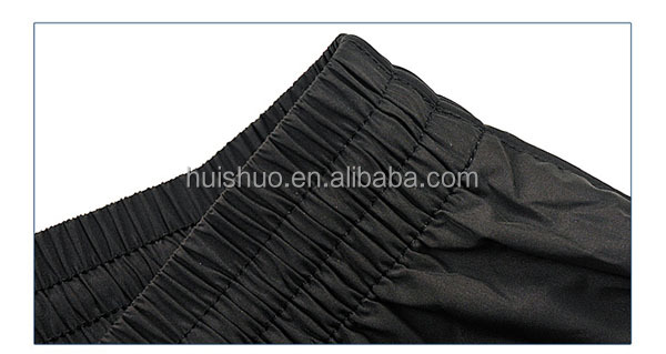 The new black woven leisure trousers tightweight pants elastic sports