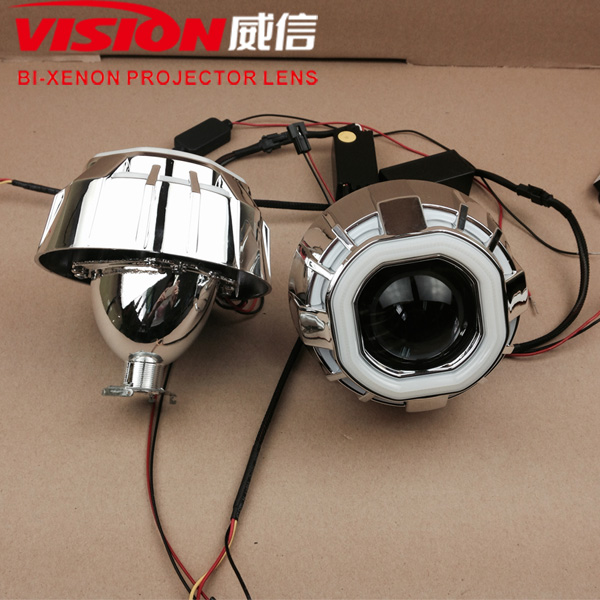 H1 Hid Projector Headlight Kit With 2.5 inch Hid Bi-xenon Projector Lens Motorcycle Lamps Bi-xenon Led Projector Lens Headlight