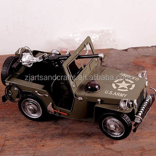 Kids model car arts and craft USA army car model for collection