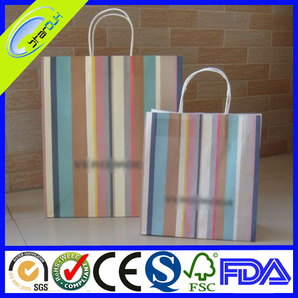 hot selling high quality paper clothes bags black