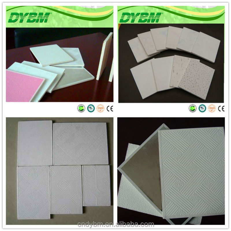PVC Gypsum Ceiling Board/PVC laminated gypsum board /pvc ceiling