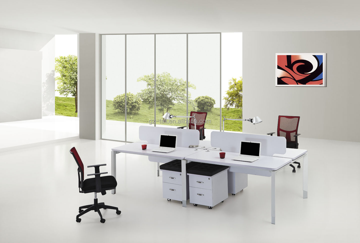 Hot Sale Modern Modular Office Workstation 2 Person Office