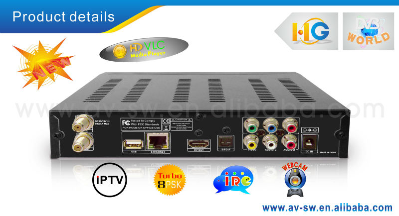 2015 hot selling new usb pvr HD VLC media player azlink hd s1with 8psk dvb-s2 newcamd cable north america satellite receiver