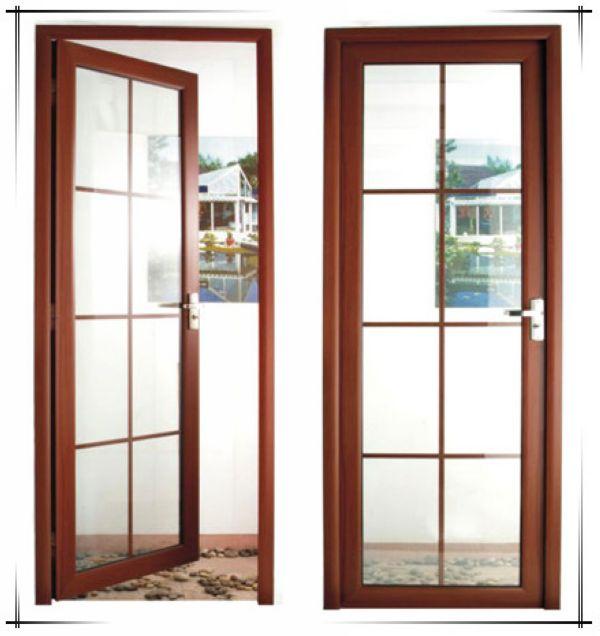 Wood grain color soundproof lowes sliding glass patio for Aluminium sliding patio doors