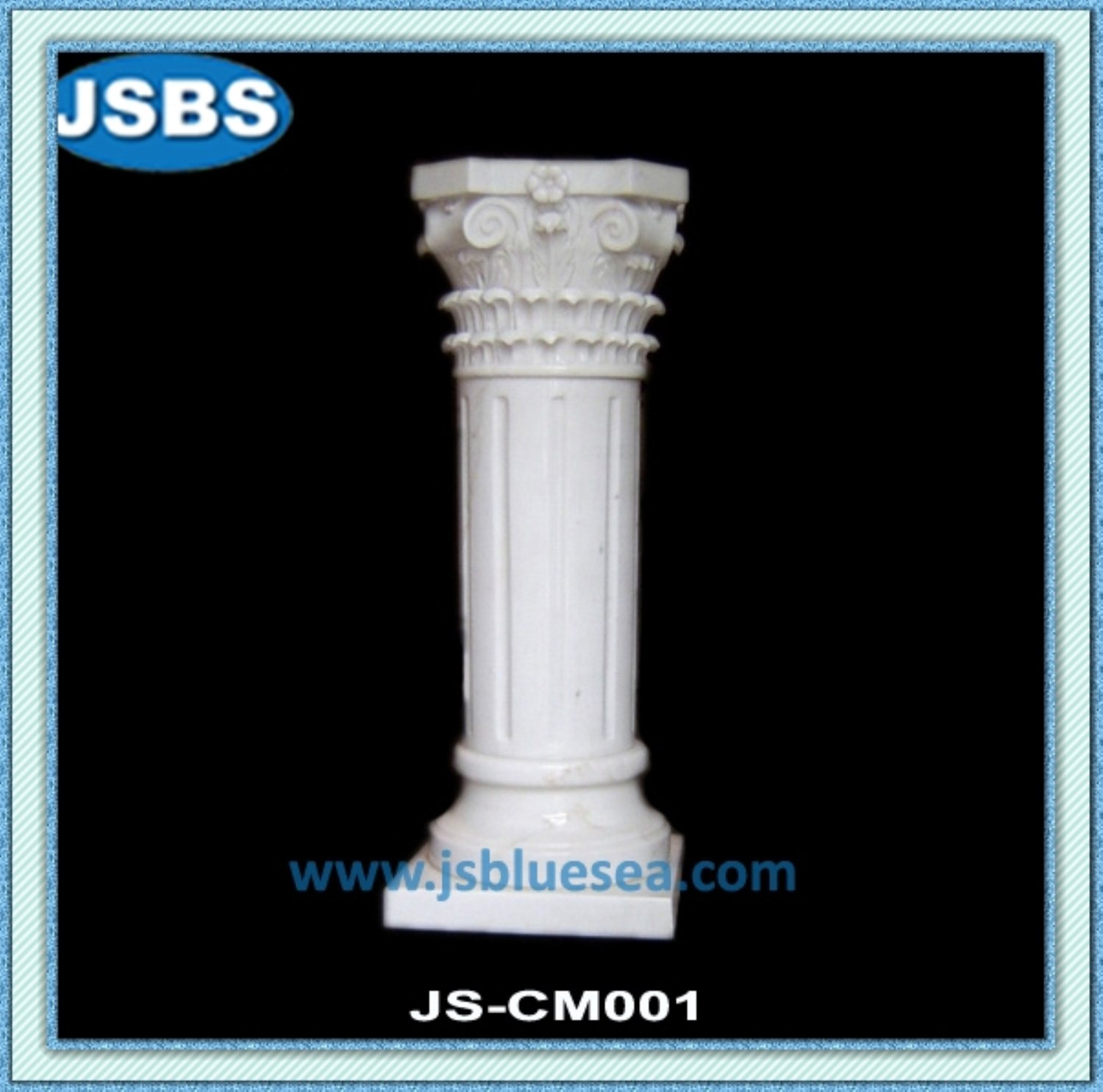 Indoor White Marble Building Decorative Support Columns