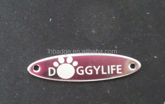 luggage nameplate, Adhesive label, Printed embossed aluminum luggage logo