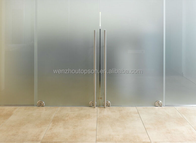 Floor roller glass sliding door system