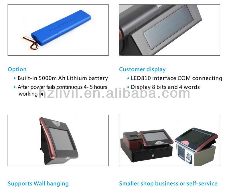 cheapest windows 7 POS all in one cash machine 10 inch mini POS payment terminal