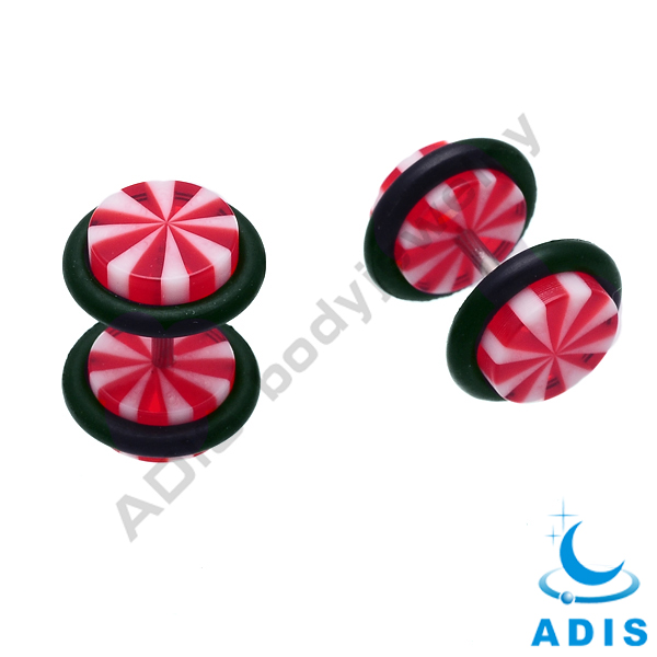 Custom Logo Acrylic Fake Ear Plug Cheater Body Jewelry