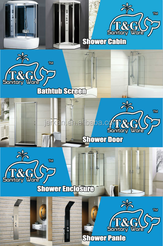 2016 best selling fashion free standing glass shower enclosure